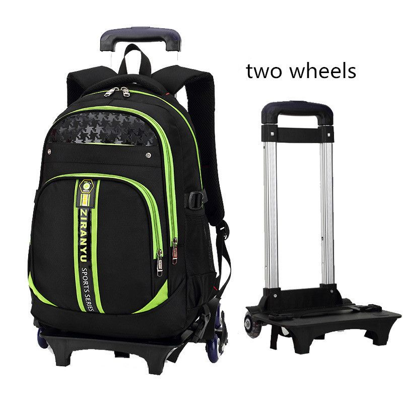 aed8153188e3 Latest Removable Children School Bags With 2 Wheels Kids boys girls Trolley  Schoolbag Luggage Book Bags