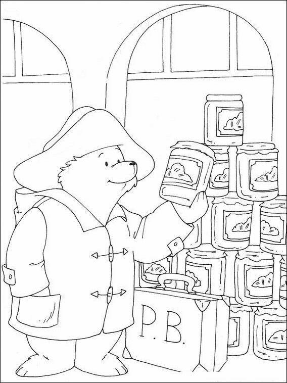 Paddington Bär 11 Ausmalbilder für Kinder. Malvorlagen zum