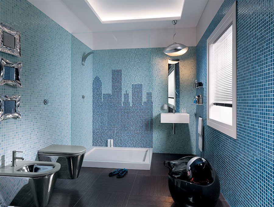 bagni con piastrelle a mosaico n.17   pippo   pinterest - Rivestimento Bagno Moderno Mosaico
