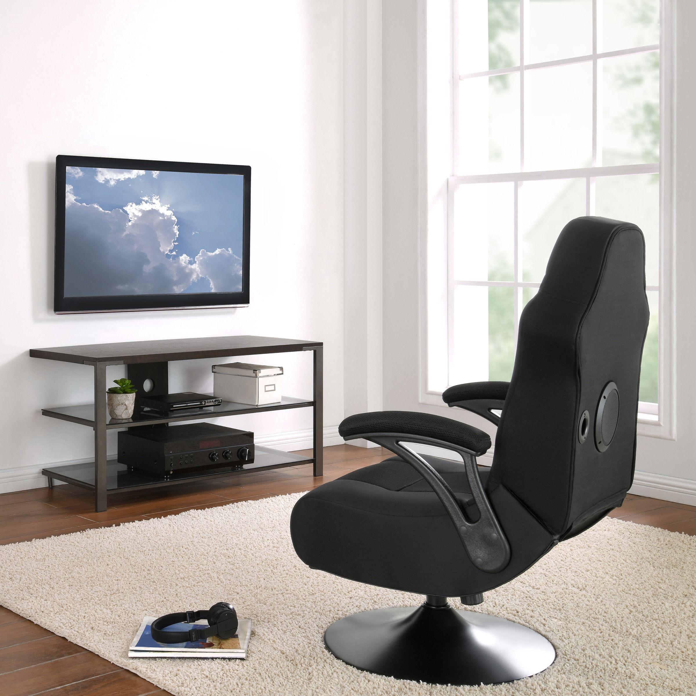 X Rocker XPro 300 Black Pedestal Gaming Chair Rocker with