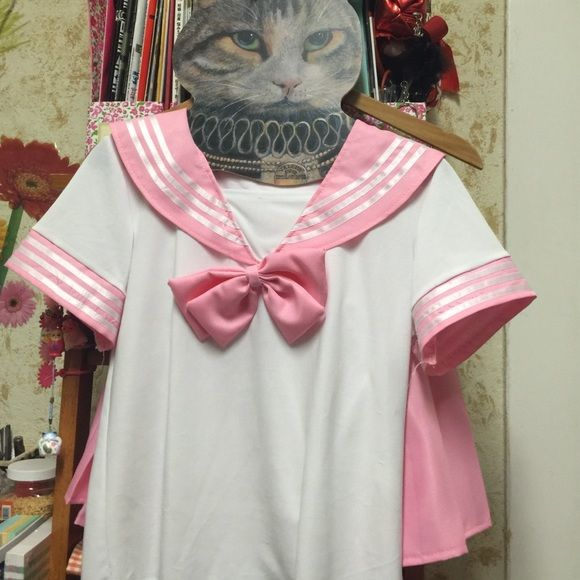 Japanese High School Girl Uniform Pastel Pink NWOT, from Taobao -> not best quality, small stain on waistband (pic 4) -> unnoticeable, fit S/M Taobao Other