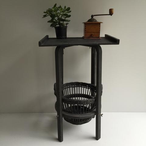 Vintage Laundry Furniture Integrated Basket Table - Meuble de