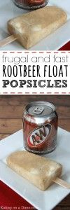 Root Beer Float Popsicles #homemadepopsicleshealthy