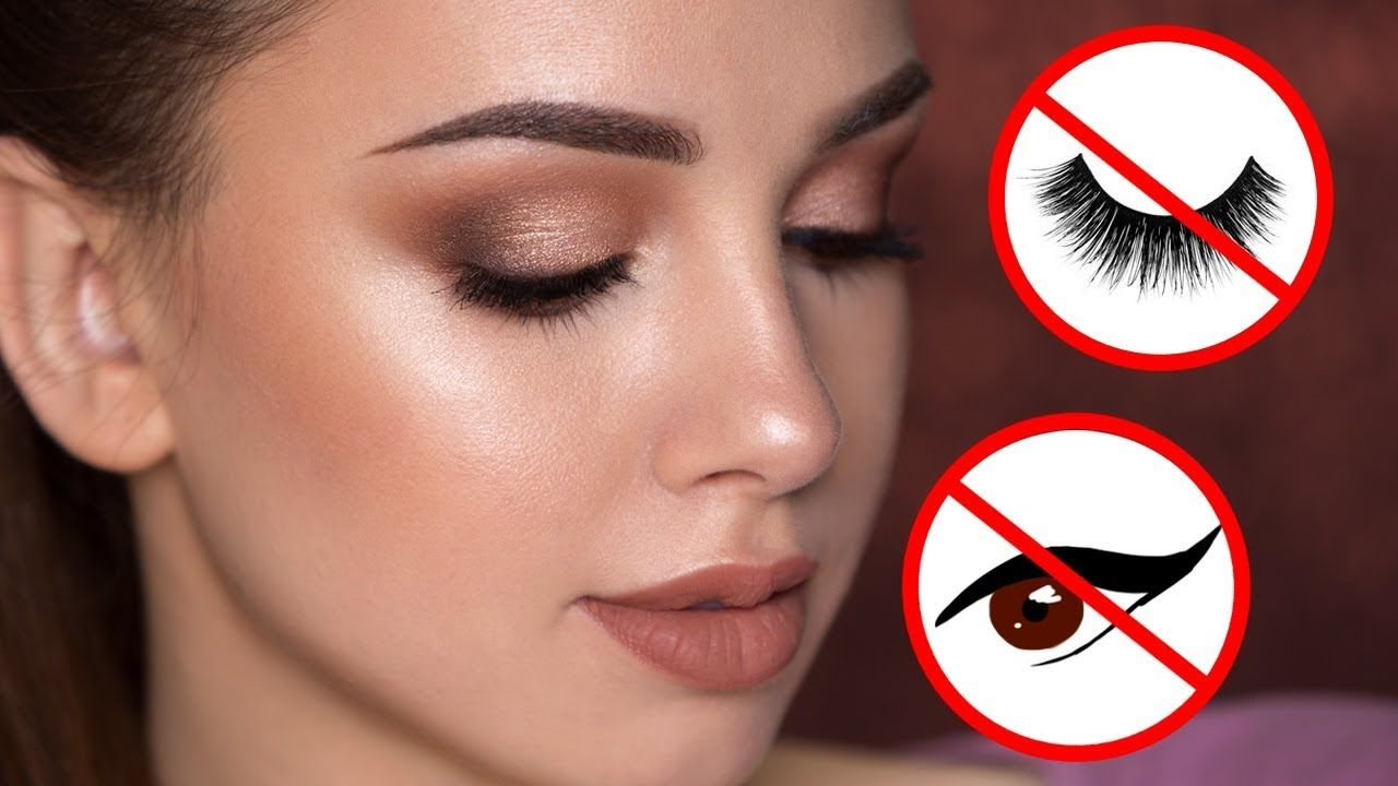 Easy Summertime Makeup Tutorial No Eyeliner False Lashes