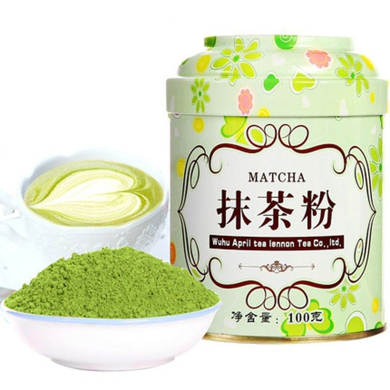 Matcha Green Tea Powder 100g Tinplate Jar Organic China Matcha Tea Tea Bag Storage Bott Organic Matcha Green Tea Organic Matcha Green Tea Powder Organic Matcha
