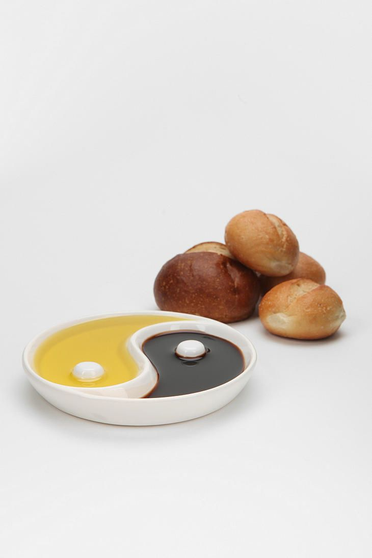 Yin-Yang Dip Dish, great for oil and vinegar! I love dipping in both ...