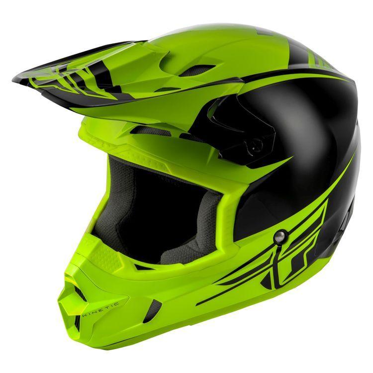 Fly Racing Dirt Kinetic Sharp Helmet Features Durable And Lightweight Polymer Shell Construction Dual Density Eps Liner Tfv Motocross Helmets Helmet Motocross