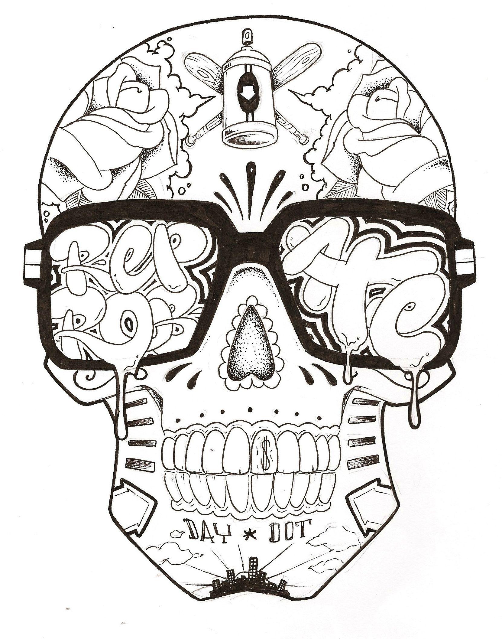 Graffiti Girl Characters | Graffiti Characters Skull Images ...