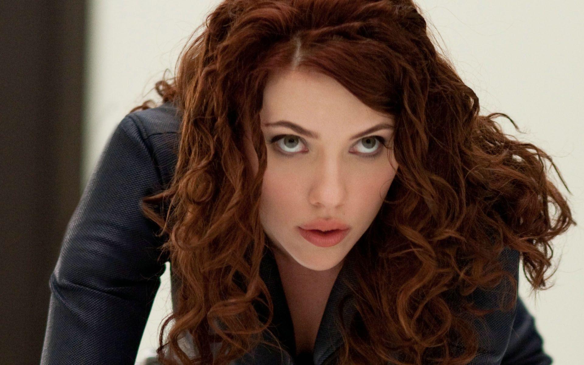 Black Widow Green Eyes Iron Man Natasha Romanoff Scarlett