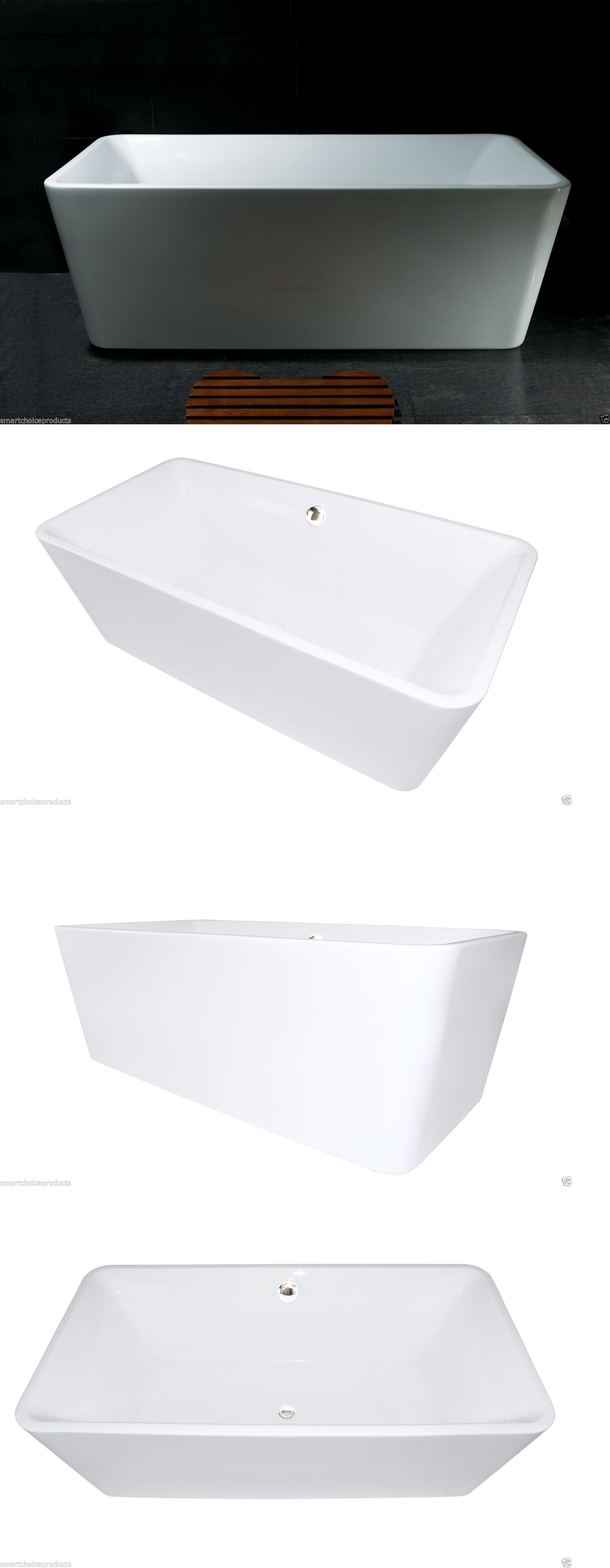 Bathtubs 42025: 67 Contemporary Bathroom White Acrylic Free Standing ...