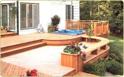 deck with hot tub #hottubdeck
