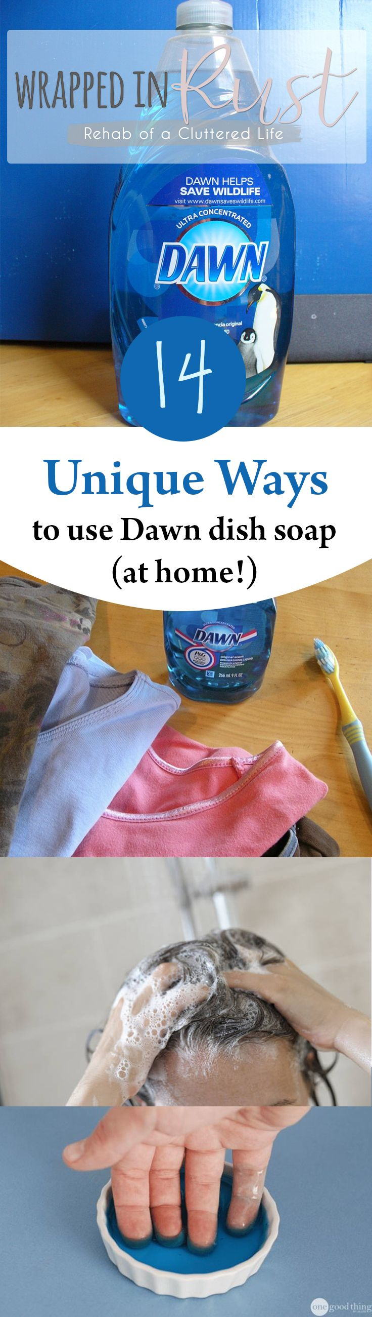 14 Unique Ways To Use Dawn Dish Soap At Home Dawn Dish Soap Cleaning Cleaning Hacks
