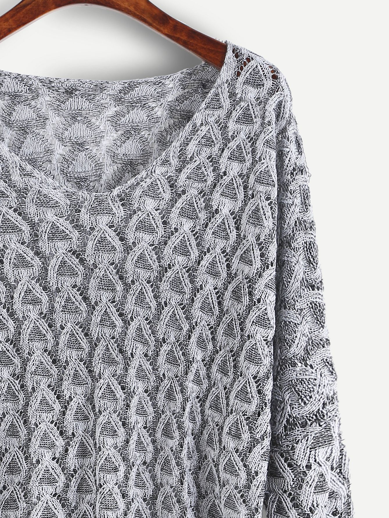 Grey open knit sweater gray patterns and shopping grey open knit sweater bankloansurffo Choice Image