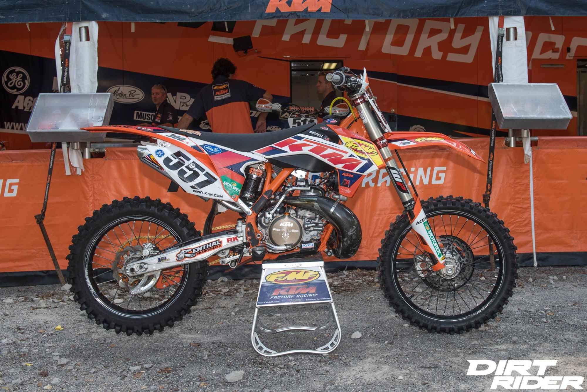 Kailub Russell S Ktm 300 Xc Factory Bike Friday Dirt Rider