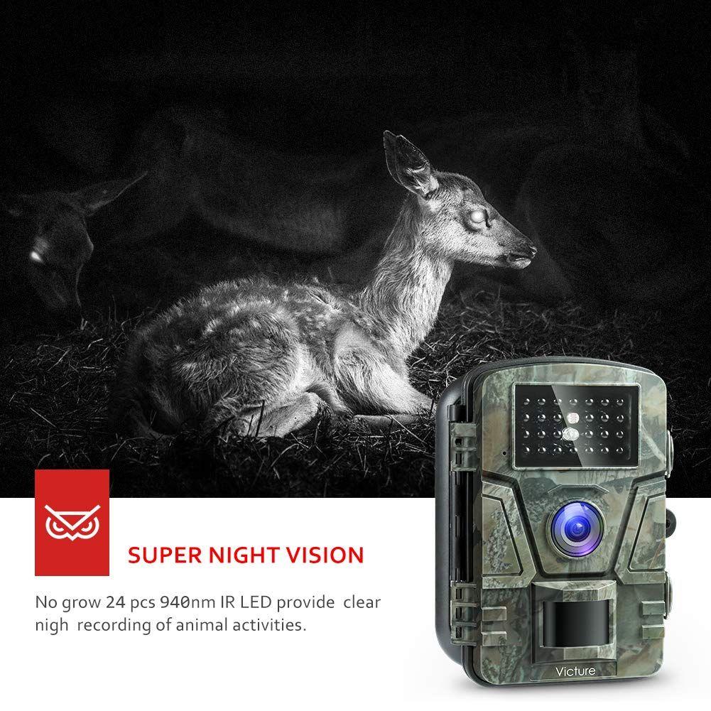 Victure Wildkamera Bewegungsmelder Nachtsicht 16MP 1080P Full HD Wildtierkamera