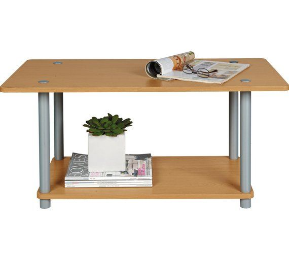 Buy Home Verona 1 Shelf Coffee Table Beech Effect At Argos Co Uk Visit Argos Co Uk To Shop Online For Coff Coffee Table Coffee Table With Storage Side Table