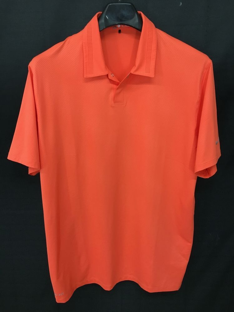 d8e0dcdc4 MENS XL NIKE TIGER WOODS COLLECTION GOLF DRI-FIT POLO SHIRT NEON PINK LOOKS  NEW  NIKE  PoloRugby