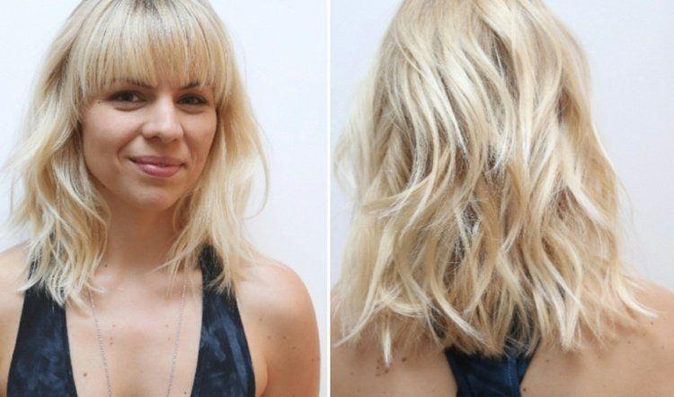 Coupe de cheveux blonds le top des coiffures