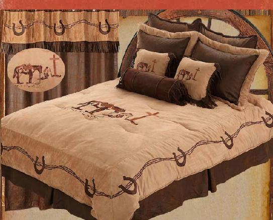 western/cowboy bedding Western Praying Cowboy Bedding
