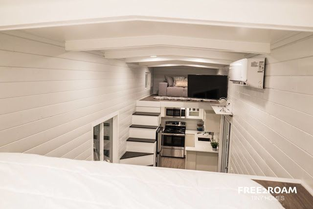 The hekkert hideaway  beautifully designed sq ft tiny house from free roam homes also rh pinterest