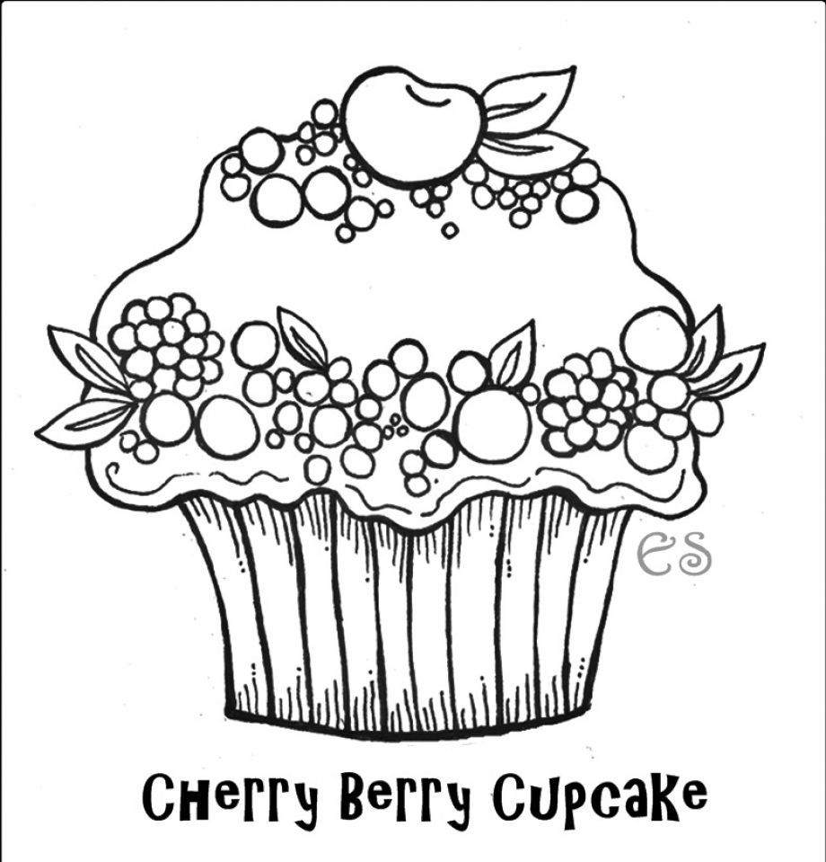 Free Printable Cupcake Coloring Pages For Kids Malvorlagen Fur