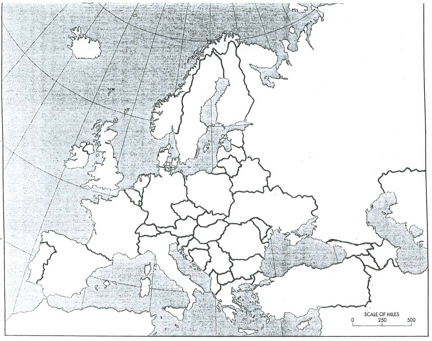 blank map of europe 1942 Map Of Europe 1914 Blank | Europe map, Map, 13 colonies map