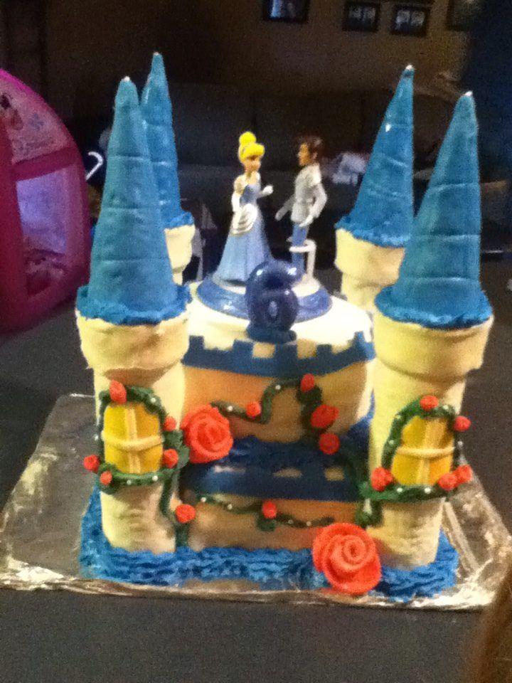 Castle cake Cinderella...Abigail's 6th