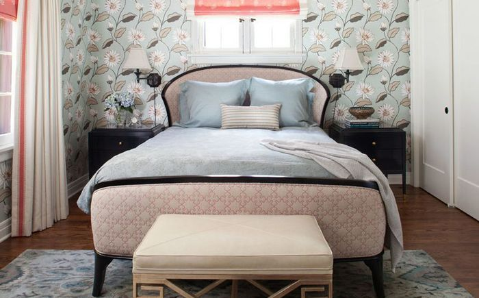 Habitaciones vintage rosa y gris decoraci n dormitorios Murales para recamaras matrimoniales