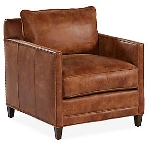 Springfield Club Chair Caramel Leather Chairs Living Room