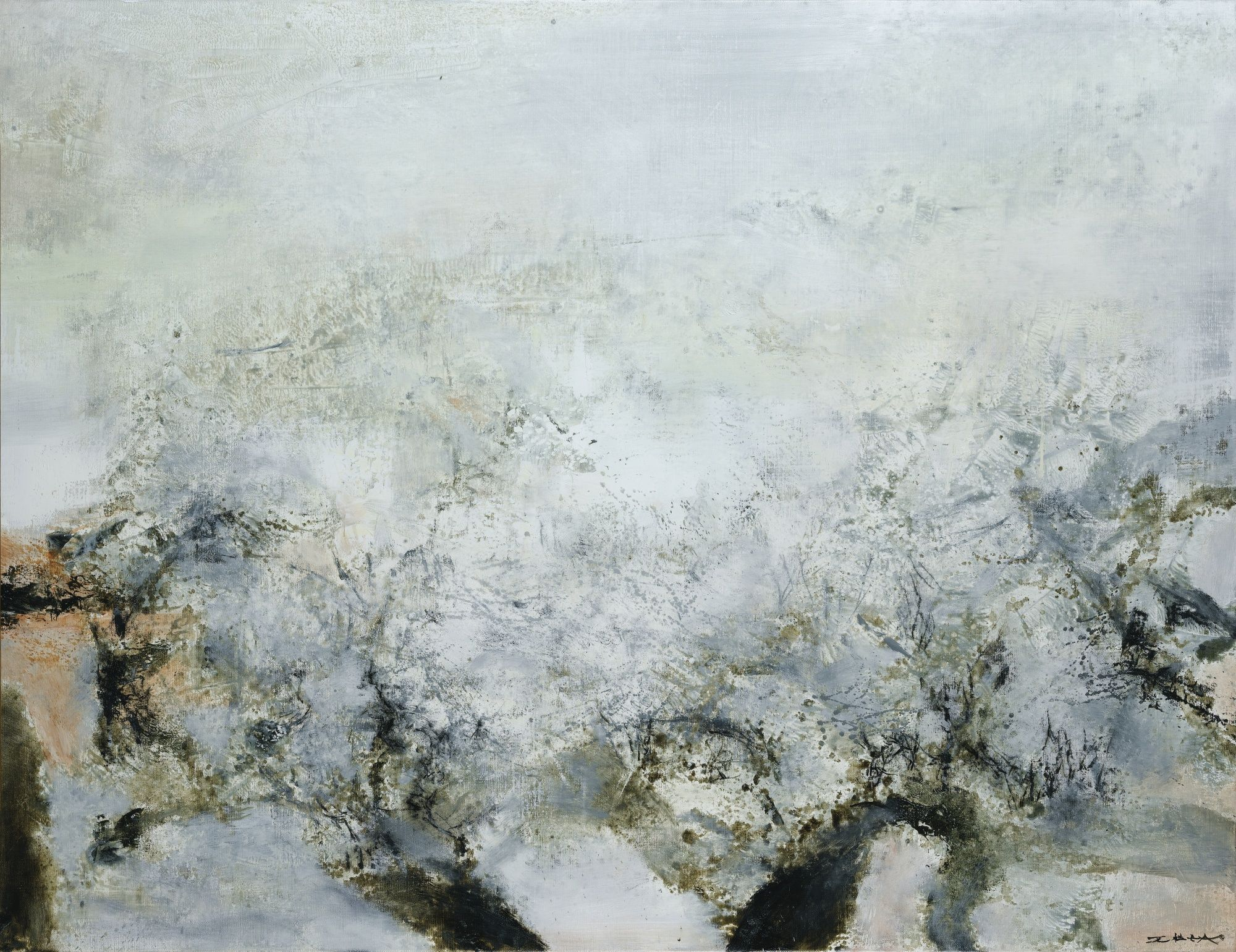 ZAO WOU-KI 1920 - 2013 1.11.86 SIGNED; SIGNED AND DATED ON THE BACK; OIL ON CANVAS. EXECUTED ON NOVEMBER 1ST, 1986.ZAO WOU-KI 1920 - 2013 1.11.86 SIGNED; SIGNED AND DATED ON THE BACK; OIL ON CANVAS. EXECUTED ON NOVEMBER 1ST, 1986.