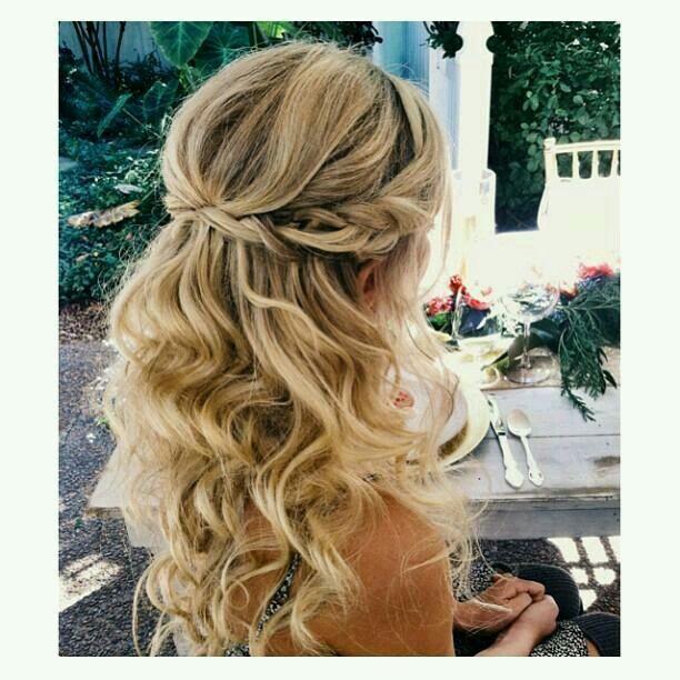 Frisur Hochzeitsgast  Haare  Hair styles Curly hair