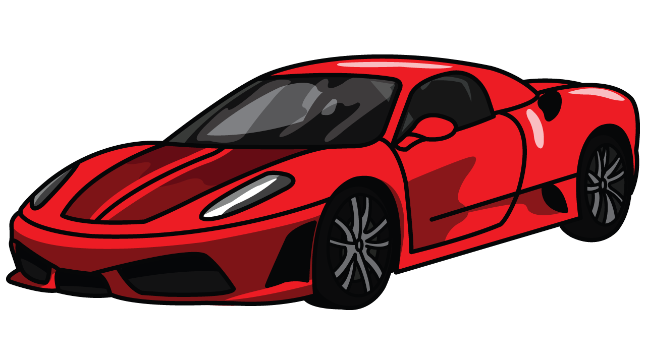 how to draw ferrari 360 step by step drawing tutorial step 7 - Sport Cars Drawings