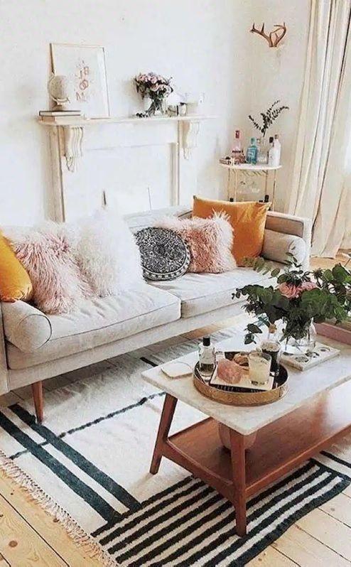 75 Cozy Apartment Living Room Decorating Ideas Decorationroom In 2020 Living Room Decor Apartment Summer Living Room Decor Summer Living Room