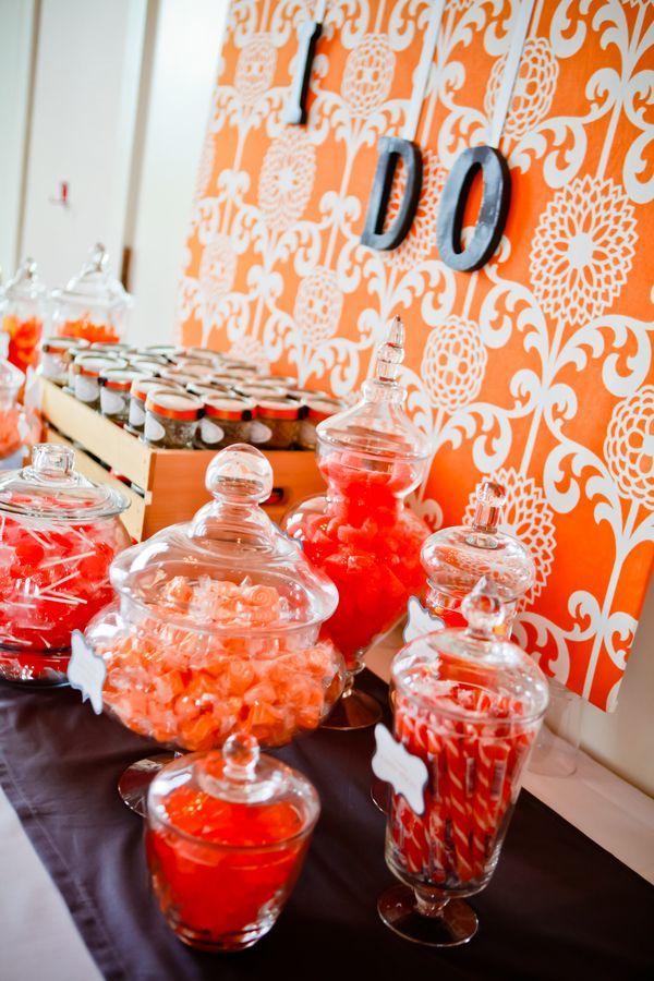 Orange Wedding Dessert Table Weddingideas Dessertbar Desserttable Oradding