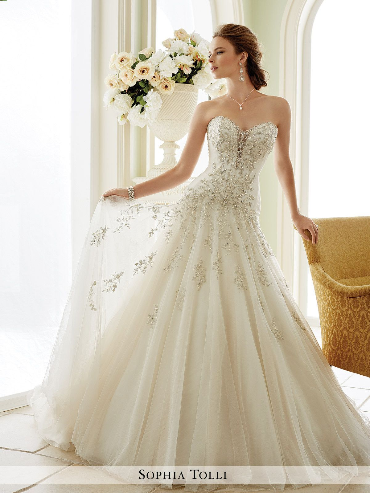 Where can i rent a wedding dress  Sophia Tolli  Venezia  Y  All Dressed Up Bridal Gown