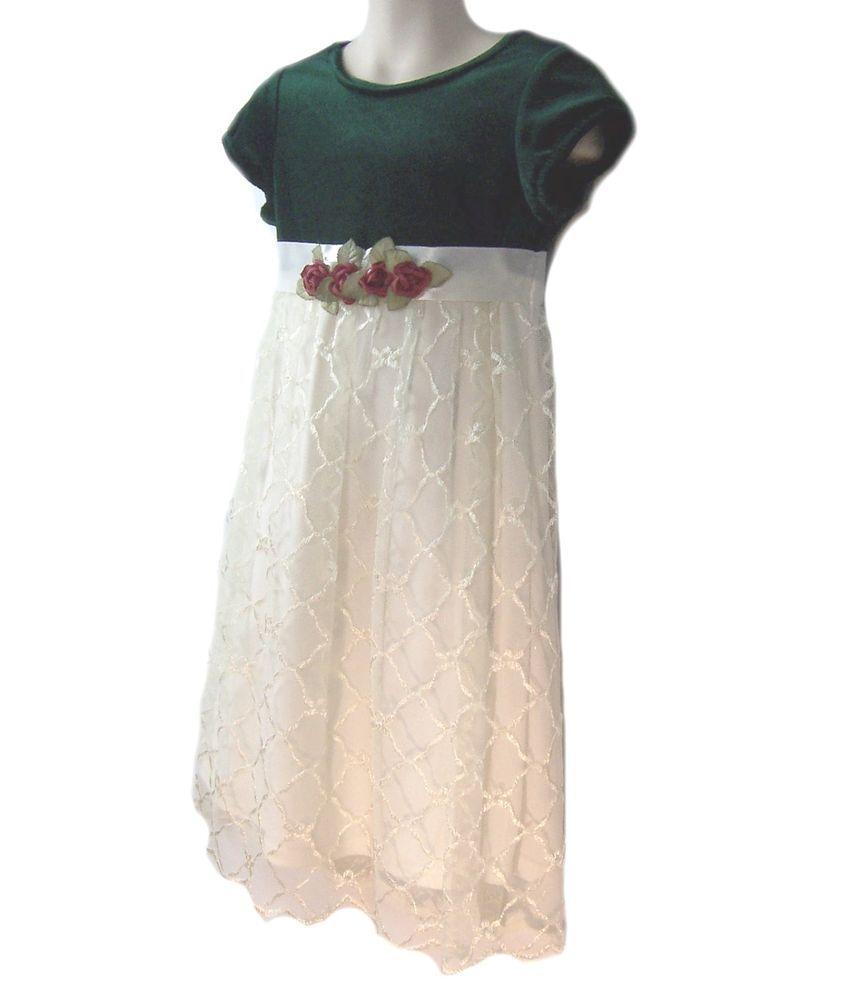 Rose cottage girls multicolor dress size church dressy below knee