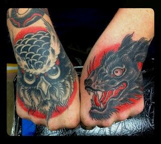 Inked hands