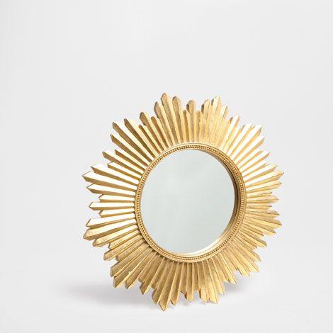 sun mirror mirrors decor and pillows zara home. Black Bedroom Furniture Sets. Home Design Ideas