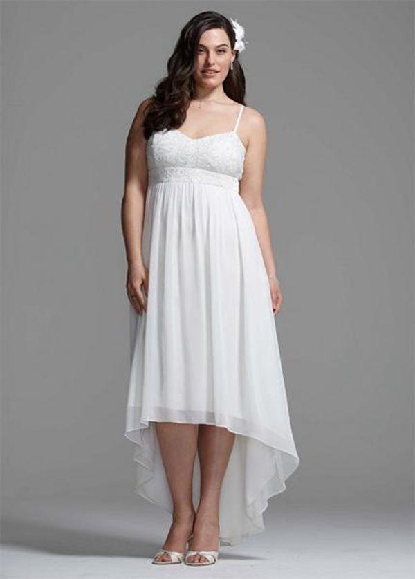 652d630f1c Graceful Plus Size Short Wedding Dresses Uk
