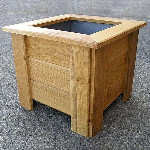 Macetero de madera de roble cuadrado … | Pinteres…