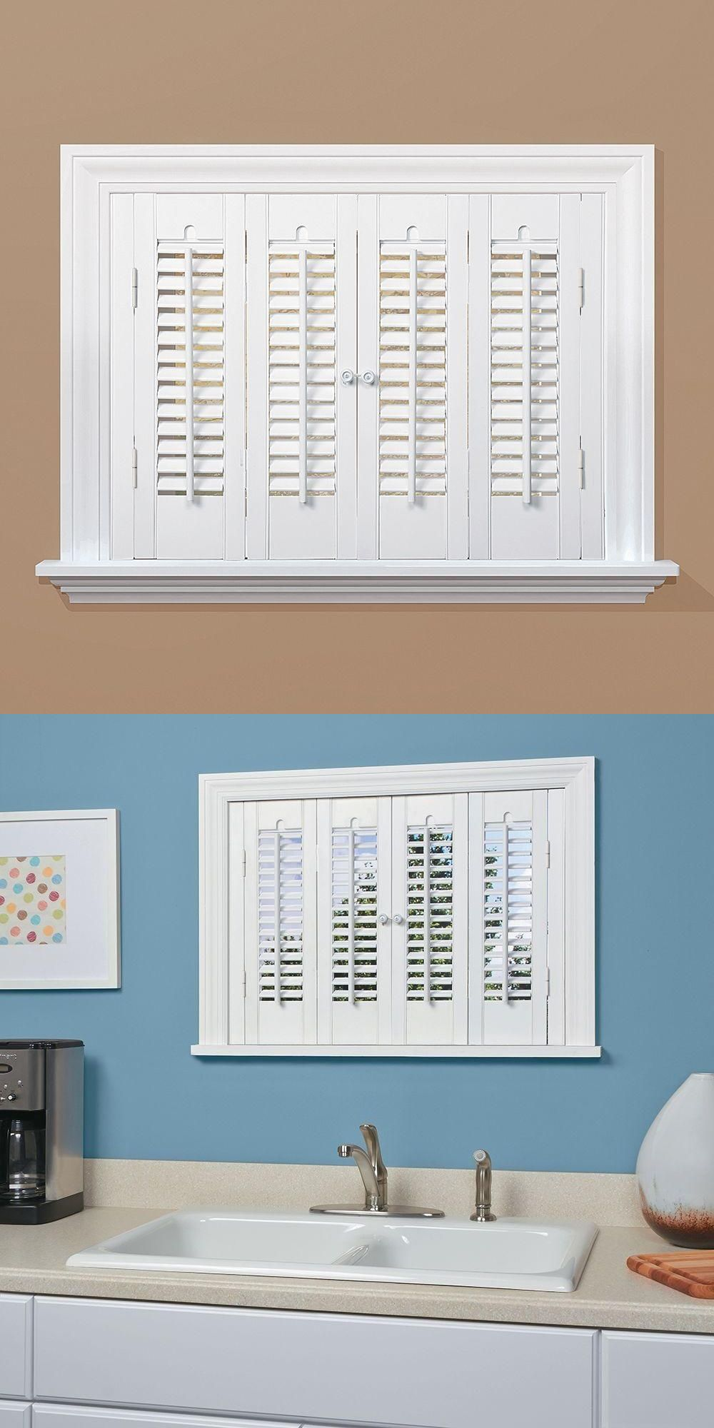 Shutters 66799: Traditional Real Wood Snow Interior Shutter (Price Varies  By Size) Window