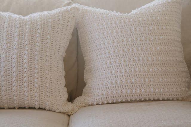 ♥♡ ♡♥ Crochê capa de almofada romântica moderna -  /  ♥♡ ♡♥ Crochet Modern Romantic Cushion Cover -