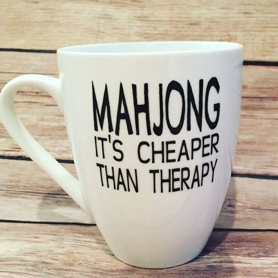 EtsymahjongFunny Mahjong Mug Mugs By Anneandmorris On IbfvyY76mg