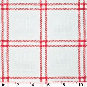 IL072 RED PICNIC STRIPES - 100% Linen - Heavy Weight (7.5 oz/yd2)