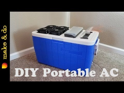 Homemade Portable Air Conditioner DIY Easy Build USB Powered Using Solar Battery Or Laptop