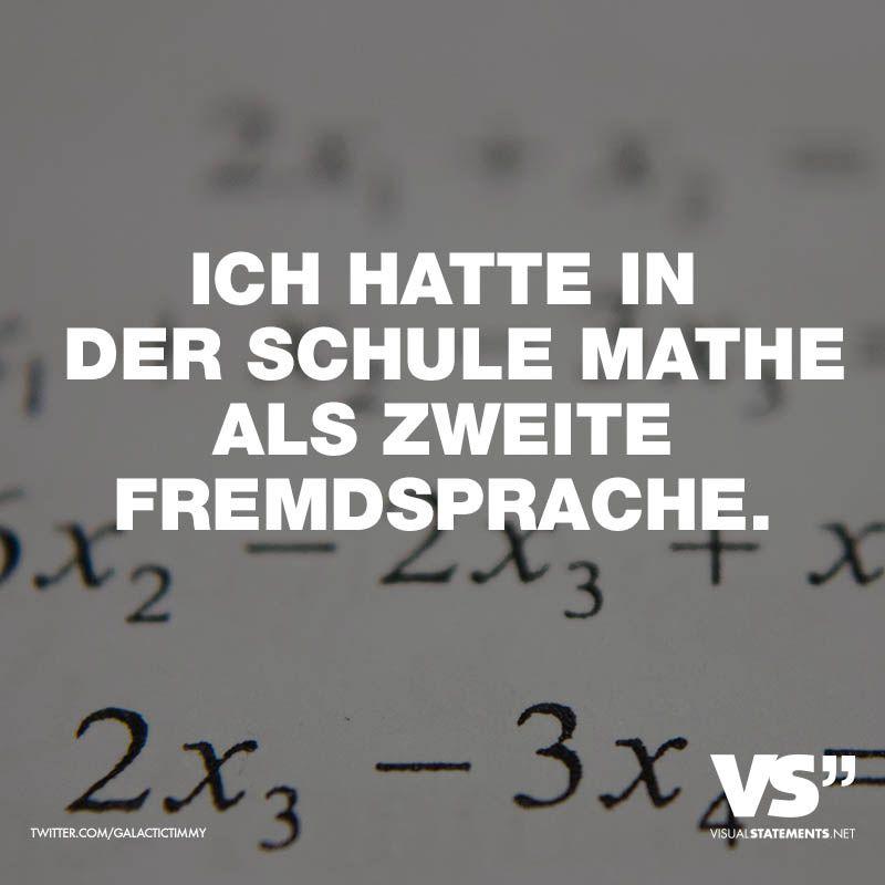 Ich hatte in der Schule Mathe als zweite Fremdsprache | Spaß