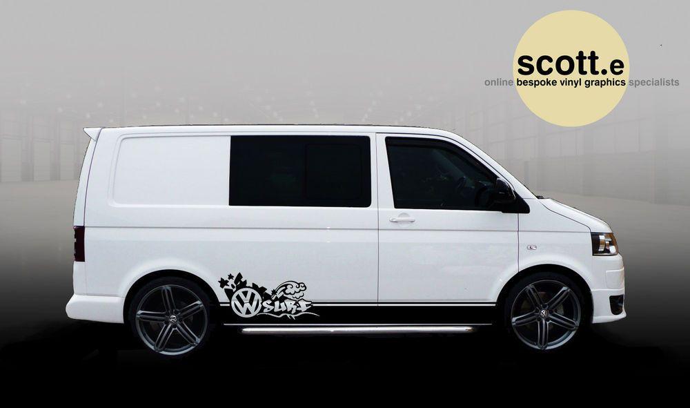 VW T Transporter Surf Van Stripes Stickers  VDub Animal - Custom car decal maker online