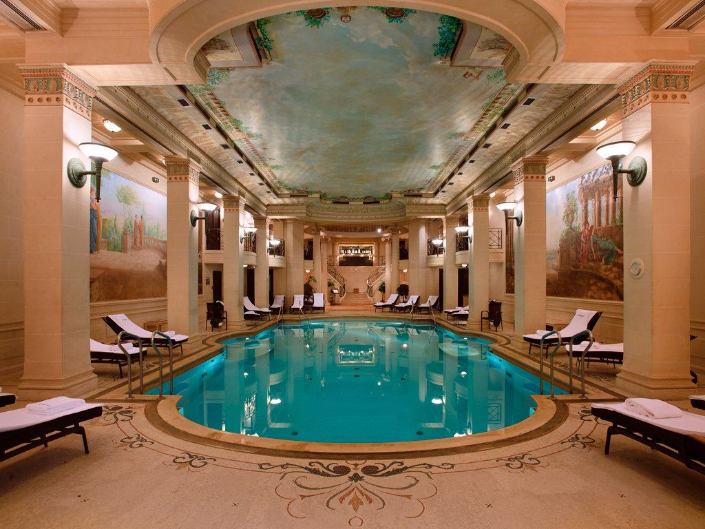 The Ritz Paris Indoor Pool A Grand Swimming Pool The Largest In All Of The Parisian Hotel