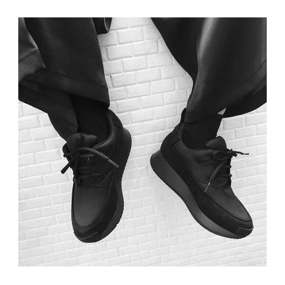 Nox sneaker - black nubuck, black canvas and vortex