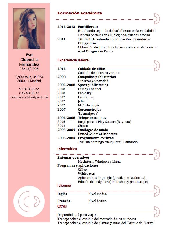 Curriculums Originales Maestra Buscar Con Google Ejemplos De Curriculum Vitae Modelos De Curriculum Vitae Formato De Curriculum Vitae